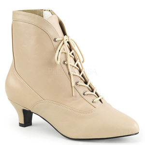 Shoes - Lace Up Ankle Booties High Heel Boots Shoes Zipper